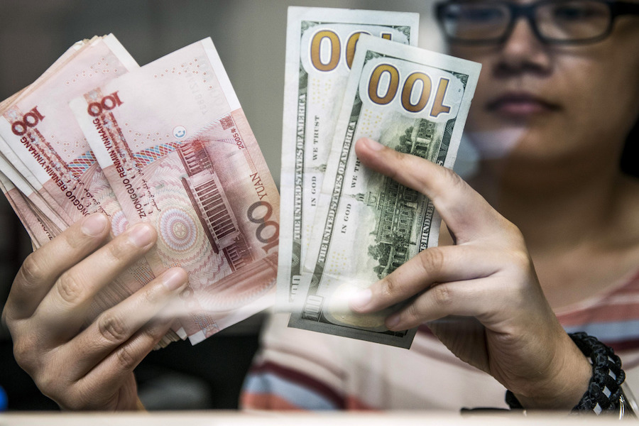 China's big banks were seen buying up United States  dollars today