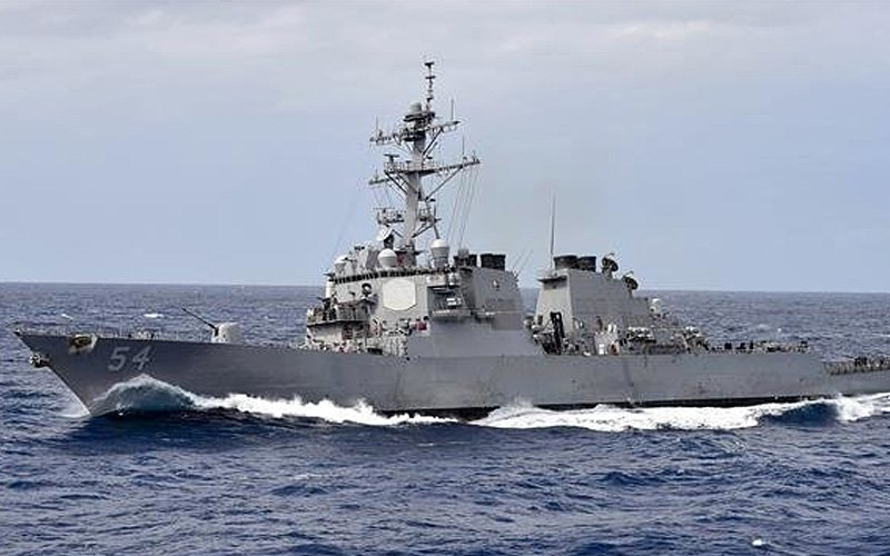 US Navy ships sail through Taiwan Strait