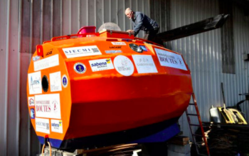 Frenchman sets off to cross Atlantic in a barrel