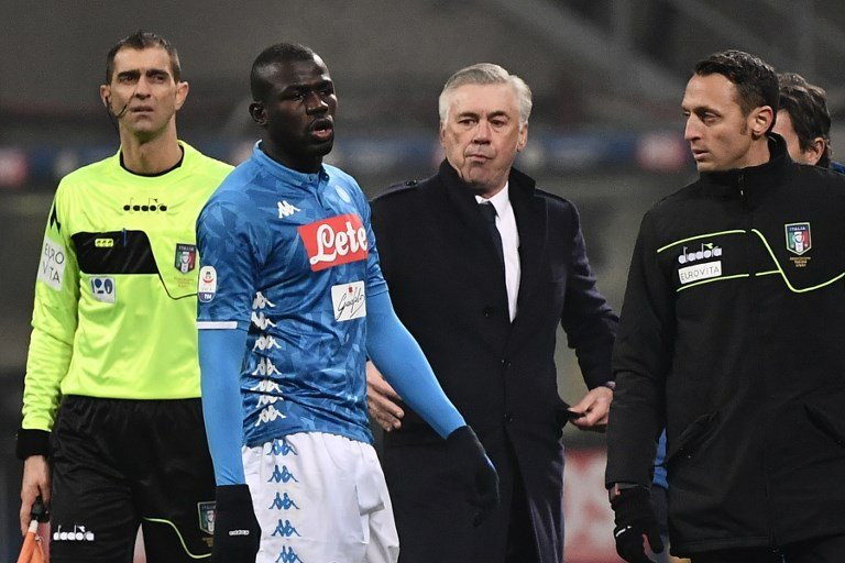 Napoli asked for halt to Inter Milan match after racist chants