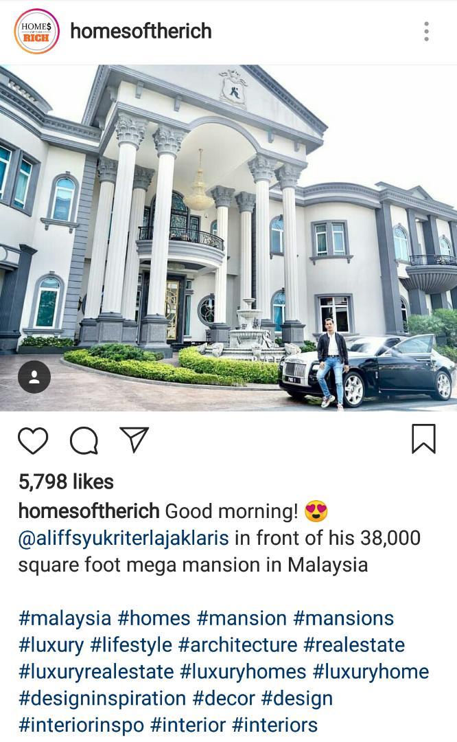 Rumah Agam Aliff Syukri Masuk Home Of The Rich Netizen Tumpang Bangga Free Malaysia Today Fmt