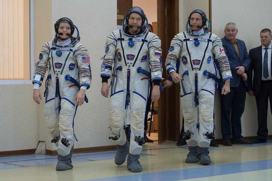 Crew confident ahead of first flight since failed Soyuz launch
