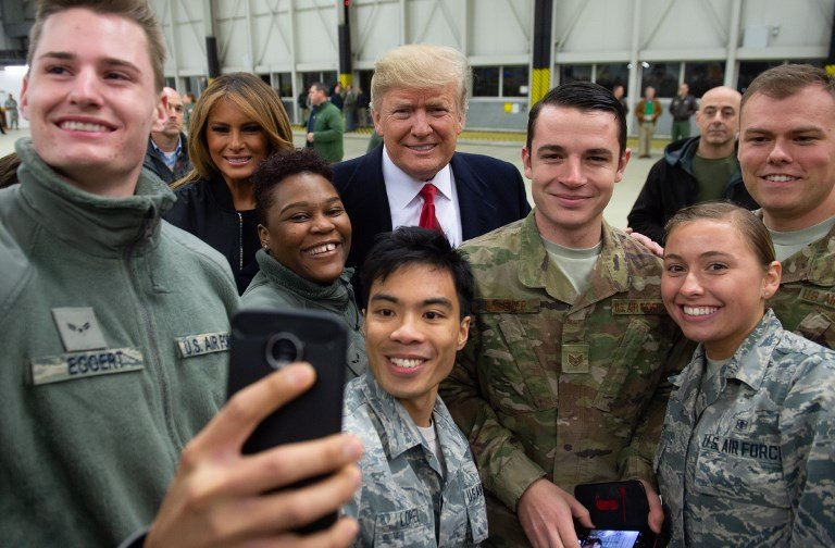 Trump greets U.S. troops in Germany