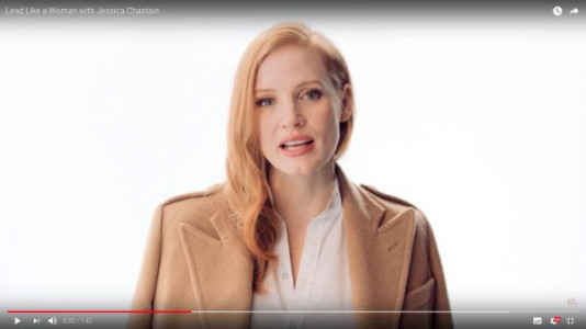 4ac06a77c67 Jessica Chastain seen her in a Youtube Ralph Lauren video empowering women.  (AFPRelaxnews Pic). Lane Bryant