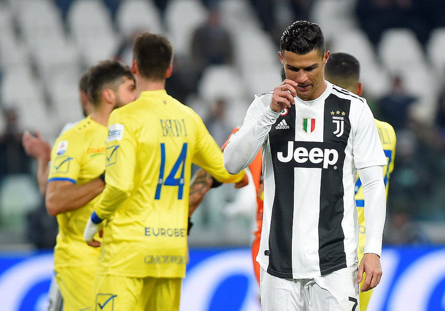Image result for Cristiano Ronaldo scores penalties vs Chievo