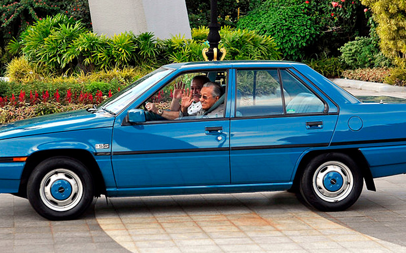 Image result for sultan johor mahathir proton