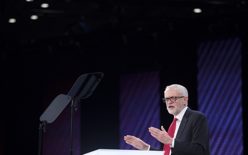Jeremy Corbyn leader of the UK opposition Labour party