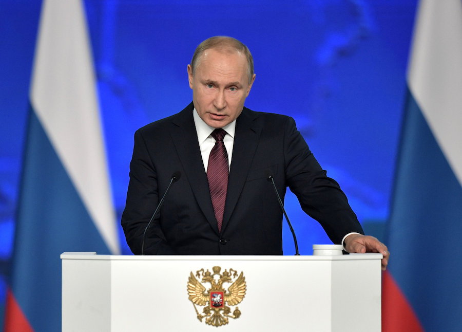 Russian president Vladmir Putin suspends INF arms treaty with US