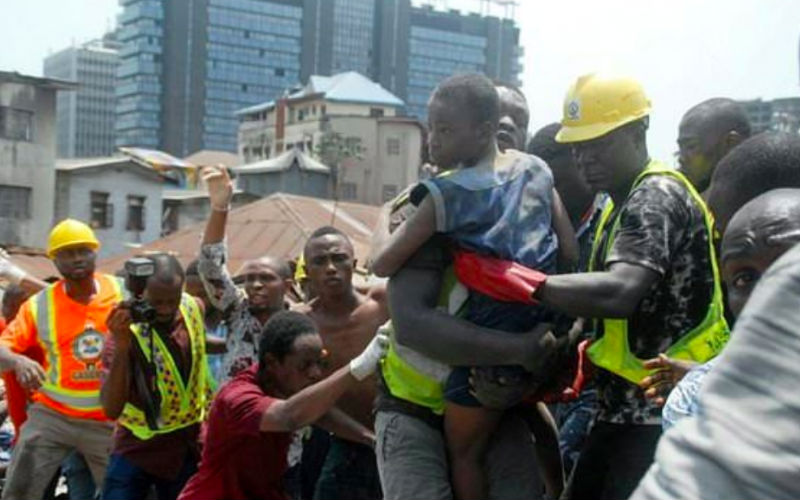 Collapsed building:12 killed, 42 in hospital as rescue operation continues