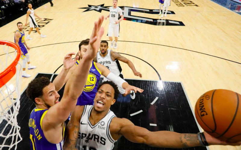 DeRozan scores 26 to lead Spurs overwhelm Warriors