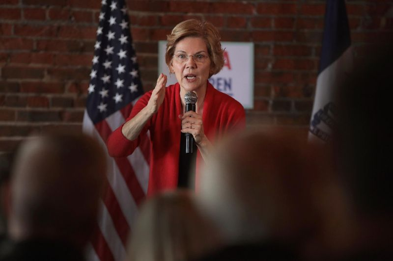 Democratic Senator Warren Calls for Regulations on Big Tech Companies
