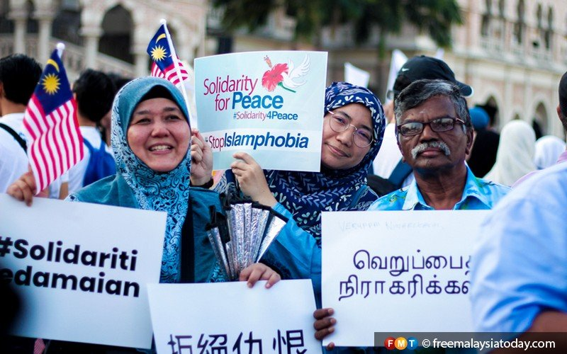 Malaysians from all walks of life attend the Solidarity for Peace rally in Kuala Lumpur on March 23, 2019.