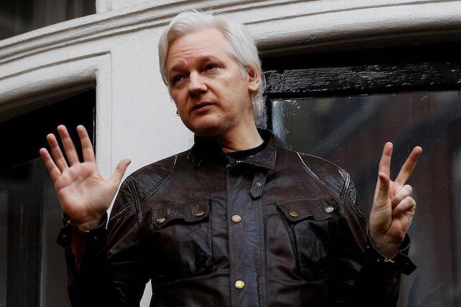 Julian Assange being spied on in Ecuadorean embassy