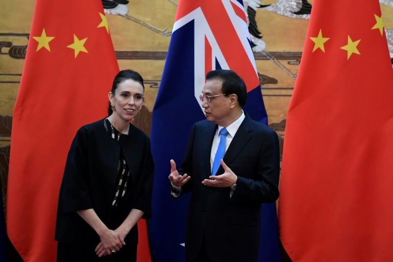 China holds welcome ceremony for visiting New Zealand PM