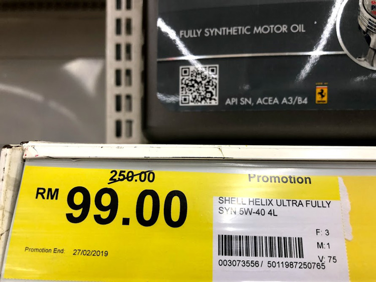 Why is the Shell Lubricant in Tesco so much cheaper?   Free Malaysia