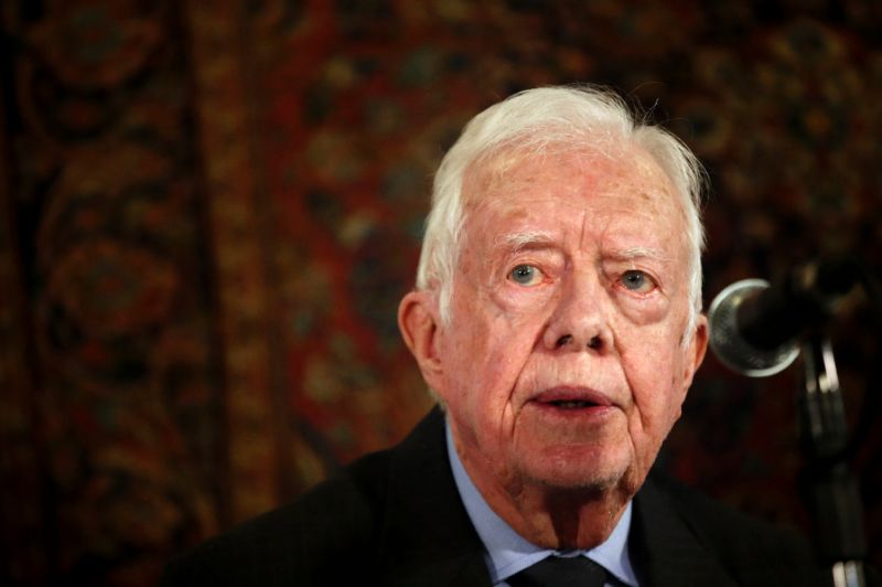 Jimmy Carter broke his hip earlier this week while preparing for a turkey-hunting trip