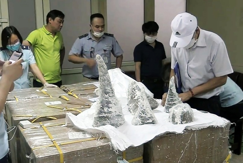 Vietnam confiscates smuggled rhino horns worth $4 million