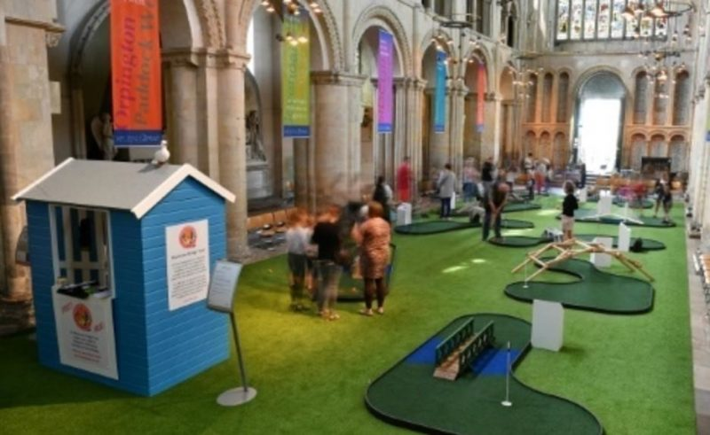 Historic cathedral installs giant slide, insists it's not a gimmick