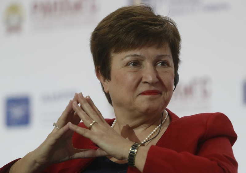 Georgieva cautions that it's too early to make projections