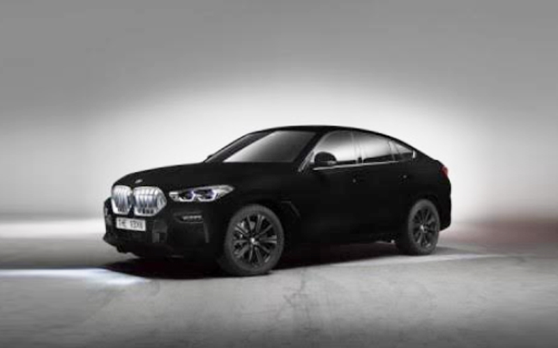 BMW X6 Vantablack Arrives In World's Darkest Black Color