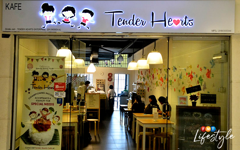 Located on the top floor of Summit USJ, Tender Hearts Café was opened in April 2018.