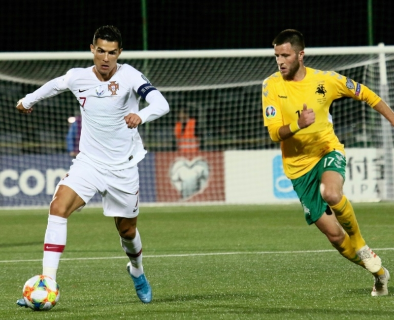 Cristiano Ronaldo Scores 4 Goals in Portugal's Rout of Lithuania