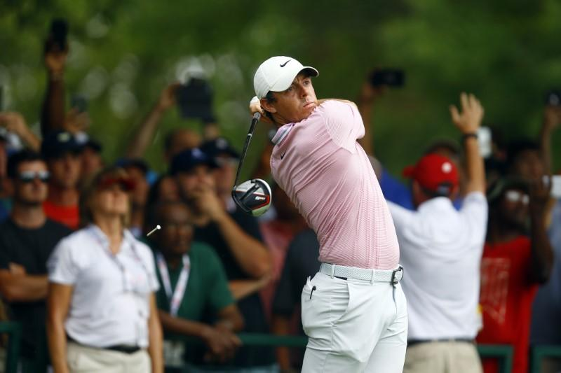 McIlroy shoots 67 at European Masters, trails leaders by 4