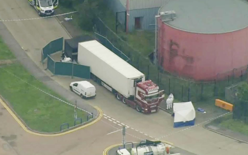 39 people found dead in container in Essex