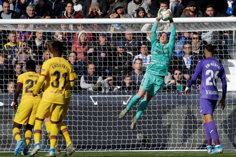Barcelona registers victory against Leganes