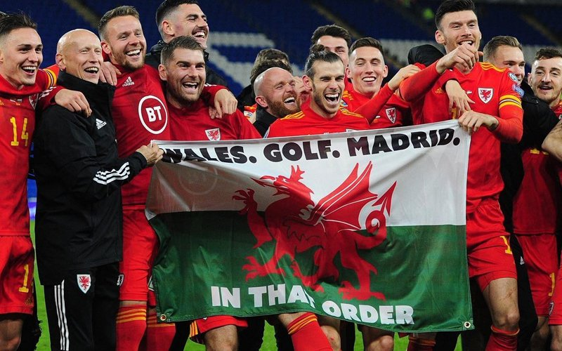 Real not amused by Bale's 'Wales, golf, Madrid' flag
