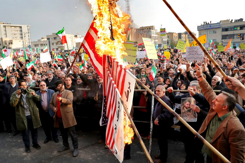 Iran arrests 8 'linked to CIA' involved in violent nationwide demos