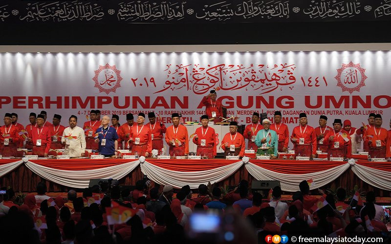 Leaders from once-sworn enemy PAS sit as invited guests at this year's Umno assembly, alongside traditional allies MCA and MIC.