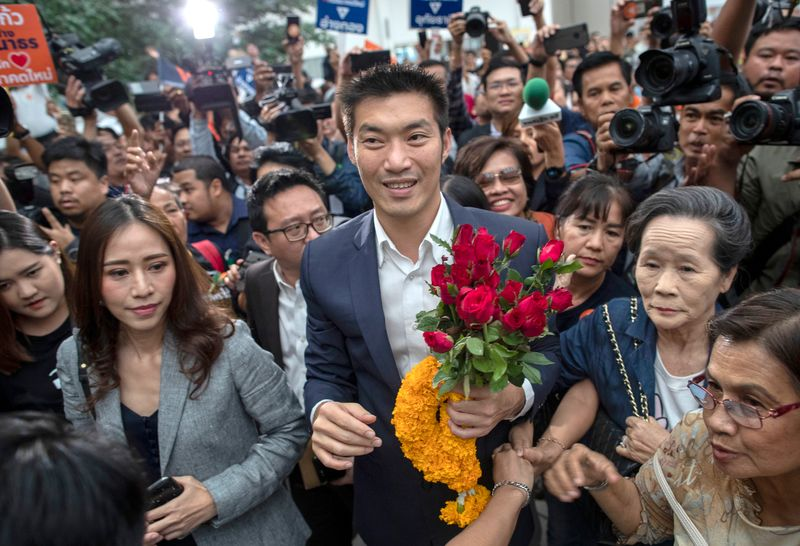 Thousands rally in Bangkok behind anti-establishment frontman