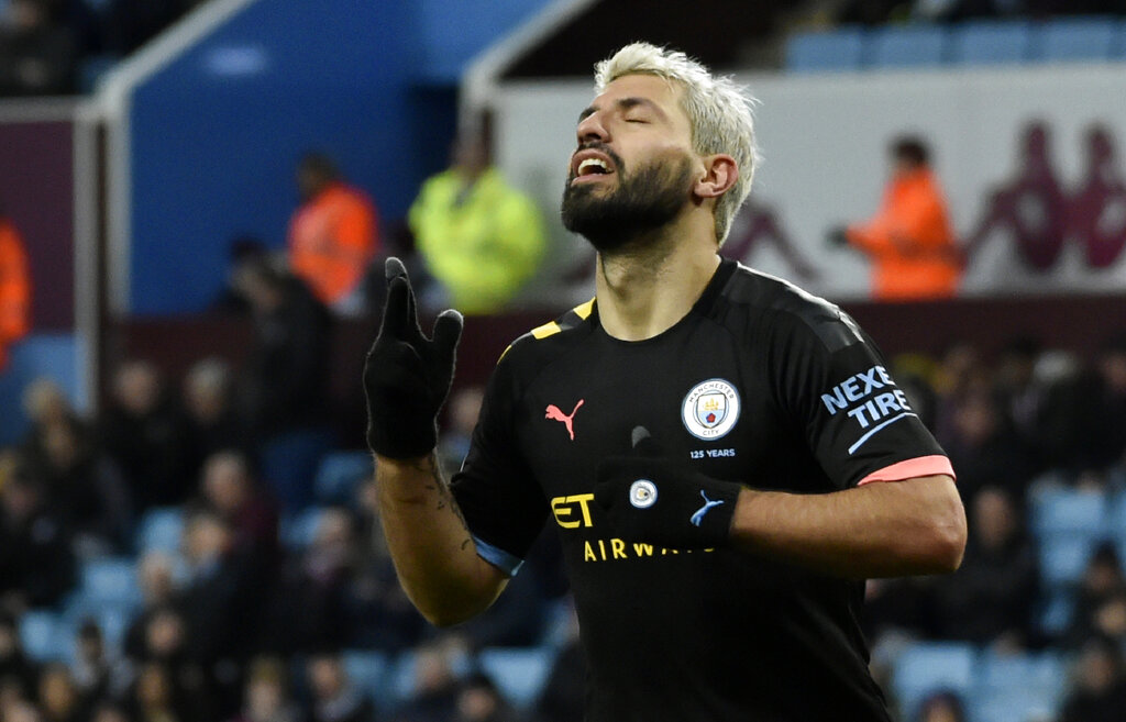 Pep confirms Aguero's lengthy layoff after 'difficult' knee injury