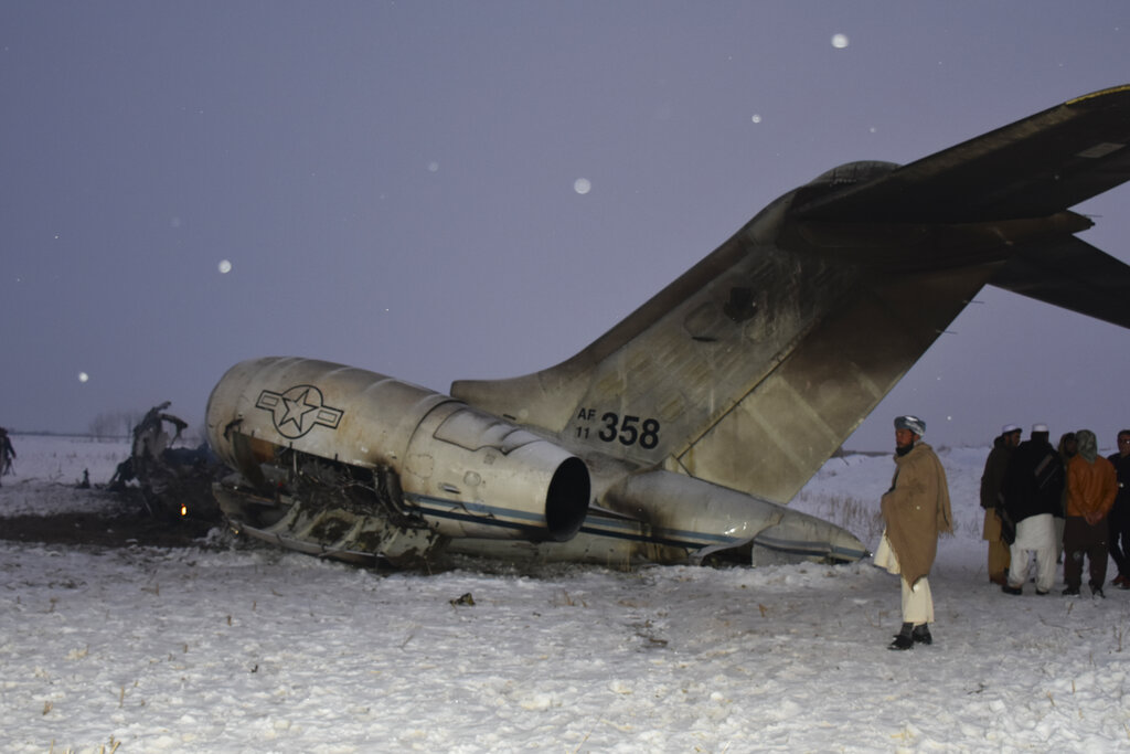 Plane crashes in central Afghan province, details unclear