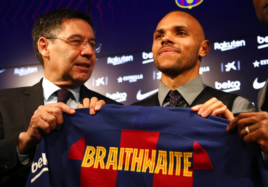 Barcelona complete surprise Martin Braithwaite from Leganes