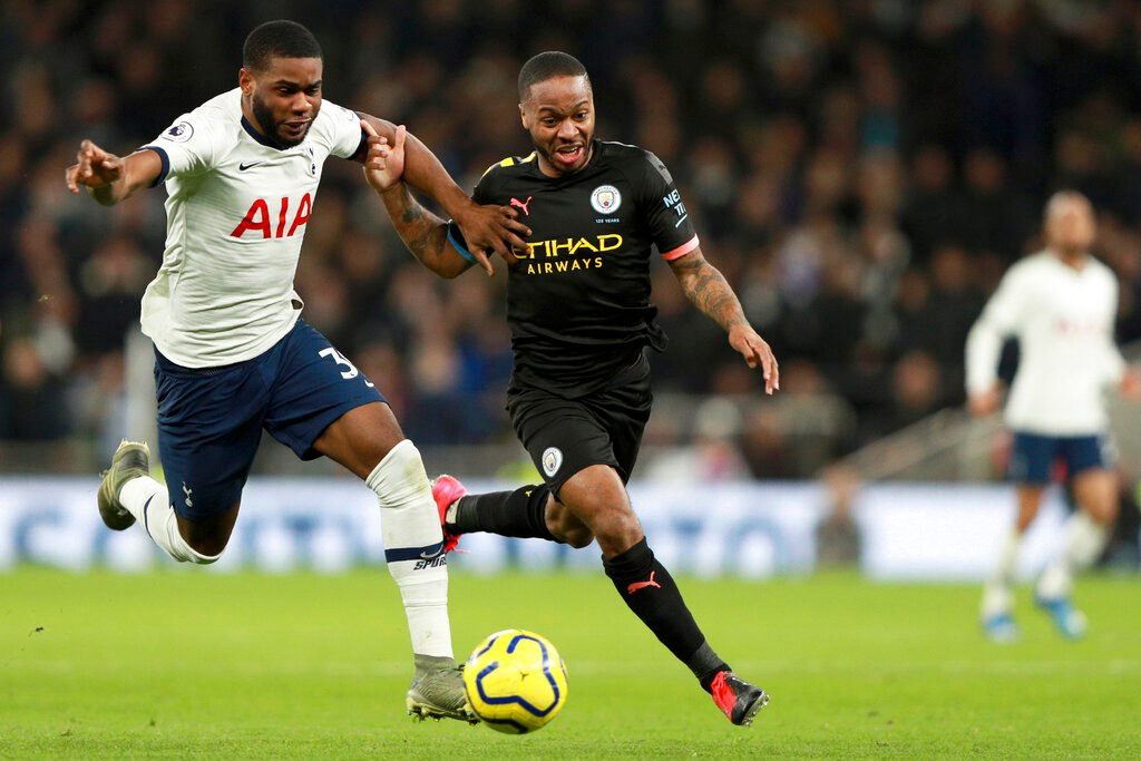 Sterling limped off during Sunday's defeat at Tottenham