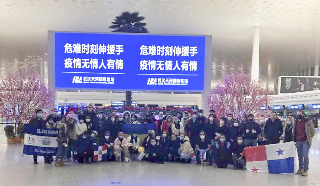Dozens protest in Ukraine over China virus evacuees