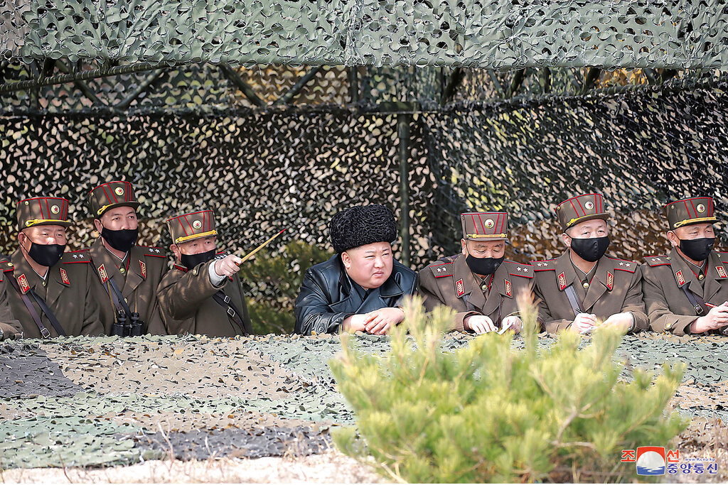Kim Jong Un supervises another round of artillery drills, 4th since Feb