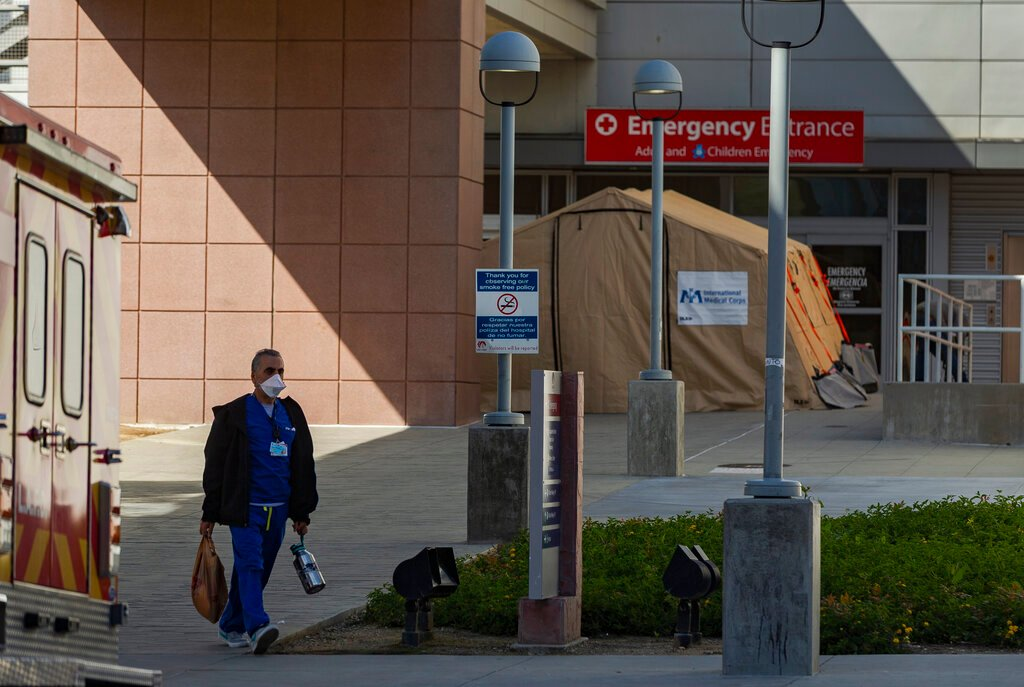 California has surge of virus cases that threatens hospitals