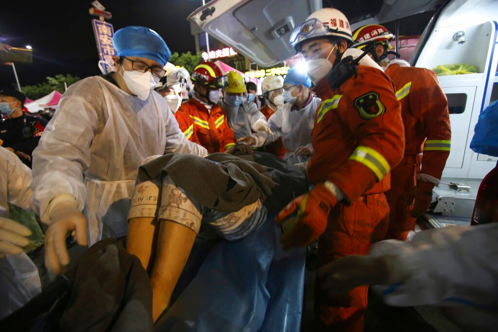 Mom, son safe after 52 hours trapped in China hotel rubble