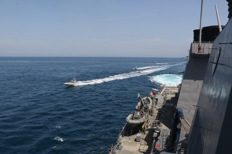 Iranian vessels come dangerously close to USA  military ships