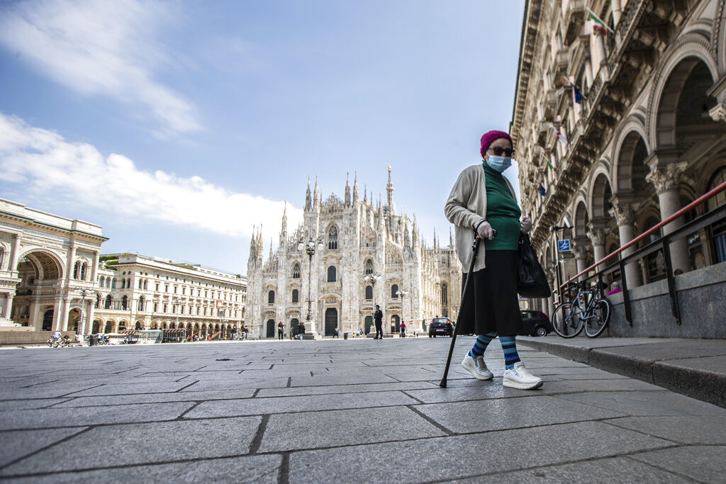 Italy reports 236 new deaths, record drop in infections