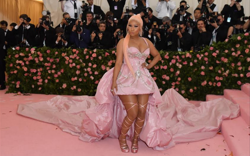 US rapper Nicki Minaj at the 2019 Met Gala at the Metropolitan Museum of Art
