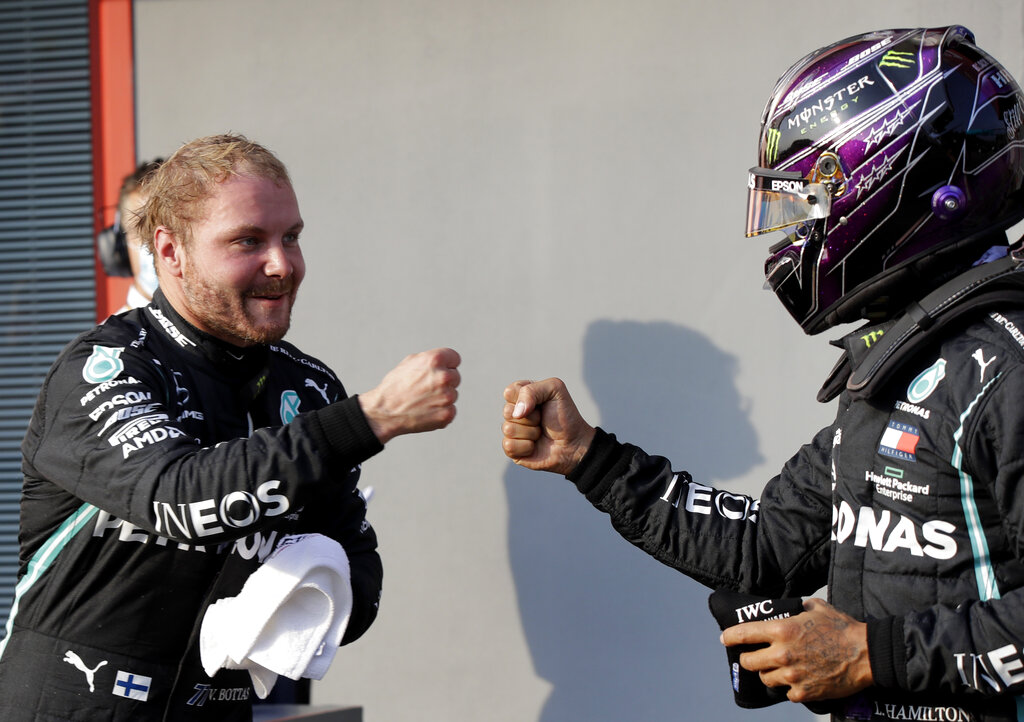 Bottas snatches pole from Hamilton on F1's return to Imola