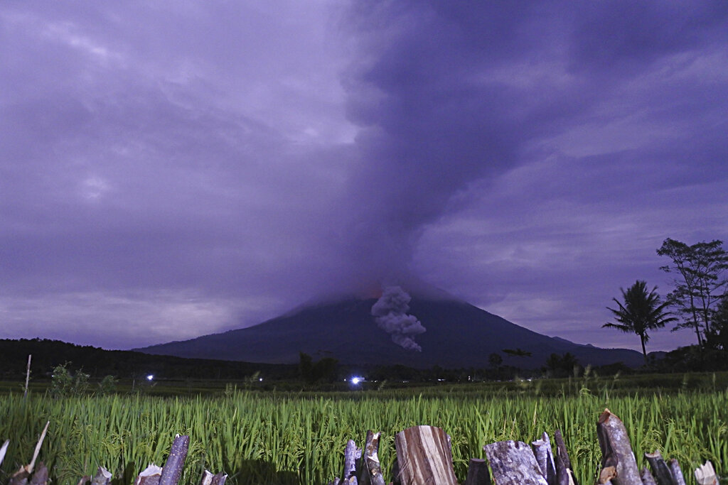 Indonesian Semeru volcano erupts, spews ash 5km into sky