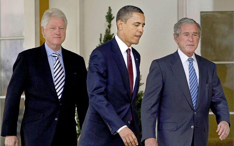 Clinton,Obama and Bush say the jabs will 'protect you and those you love from this deadly disease