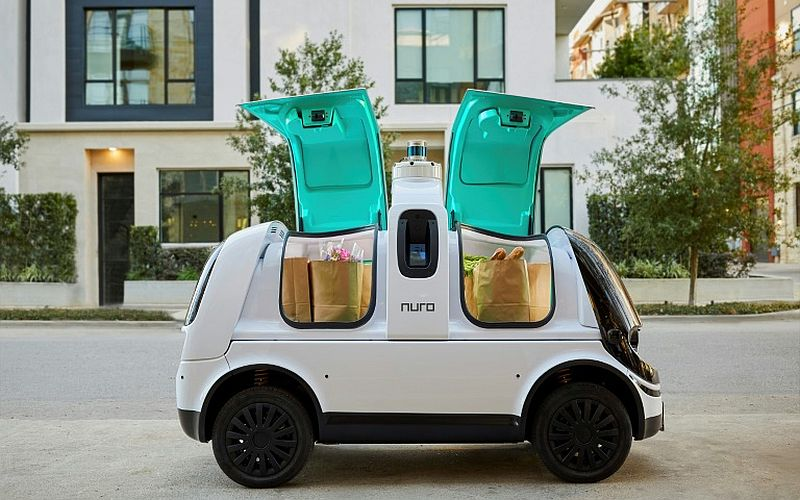 This is the first driverless auto delivery service ever in California