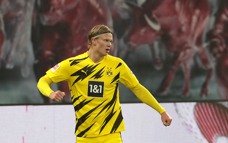 Haaland hits double as Leipzig miss out on top spot