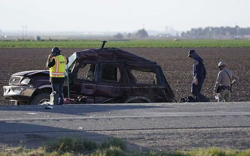Cause of California SUV crash that killed 13 is a mystery